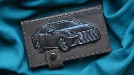 Кожаный кошелек ′Lexus GS 200t′ НА ЗАКАЗ