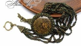Кулон ′Бронзовый век′ натуральный камень бронзит