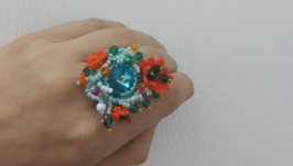 Ring Orange flowers