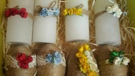 Декоровані яйці і свічки