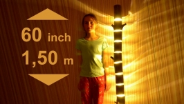 Торшер з дерева, підлоговий світильник ручної роботи