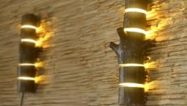 Бра з дерева, настінний світильник, освітлення для дому