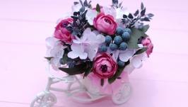 Декоративный велосипед с цветами  - подарок на день матери, день рождения
