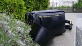 Мужская поясная сумка XL