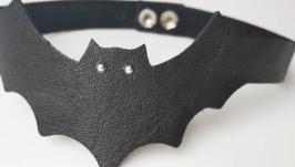 Кожаный чокер ′Bat′