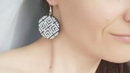 Вышитые серьги ′Labyrinth′