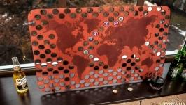 Копилка для пивных крышек CAPSBOARD WORLD CHOCOLATE