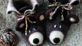 пинетки из войлока ′Мишка косолапый′