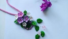 Кулон с цветами Весенний