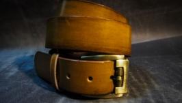 Купить кожаный ремень гладкий (Rem3a)