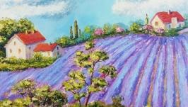 Картина маслом ′Сказочные ландшафты Прованса′40 х 40 см