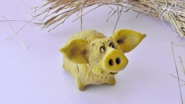 Статуэтка свинка хендмейд подарок