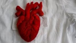 Сердце брошь