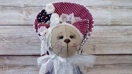 Текстильная кошечка Кэтрин-Авторская ручная работа