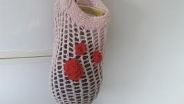 Вязаная сумка ′Розовая′.