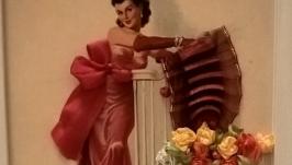 Вышитая открытка Мэри