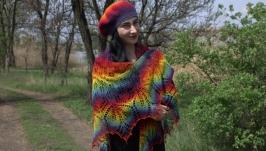 Комплект  шаль Харуни и берет из кауни