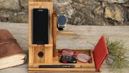 Настольный Органайзер для Samsung С Вашим Логотипом Из Дерева На Стол