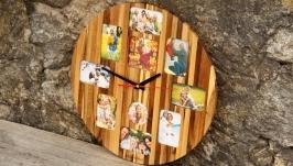 Деревянные Настенные Часы С Фото На Стену Домой - Годинник З Фото - Подарок