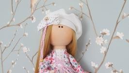 Коломбина текстильная интерьерная кукла