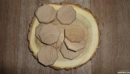 Заготовки деревянные восьмиугольник 4 см Руны Дуб