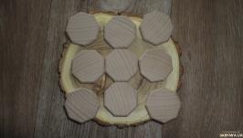 Заготовки деревянные восьмиугольник 4 см Руны Клен