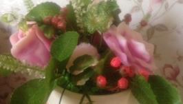Букет из цветов - мыло ручной работы