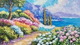 Картина маслом морской пейзаж ′Море зовет′