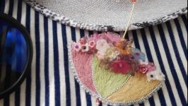Брошь ′Цветочный зонтик*