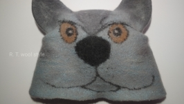 Банна шапка ′Серйозний кіт′