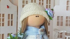 Интерьерная текстильная кукла. Лето в городе