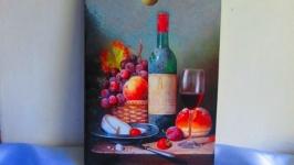 Разделочная доска (больш) ′Голландский натюрморт′,для кухни,дощечка,досочка