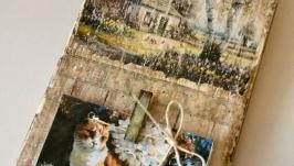 Держатель для календаря, фото, записей ′Старый пейзаж′