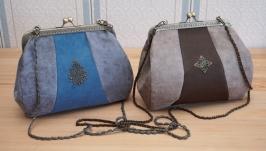 тут изображено Замшевая сумочка ′Юлиана′