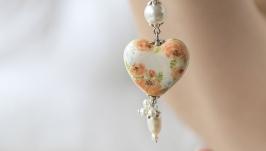 Цветочная подвеска в форме сердца