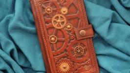 Кожаный кошелек ′СТИМПАНК′