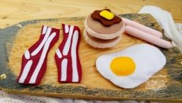 Завтрак -игровой набор еды из фетра, развивающая игрушка, подарок девочке