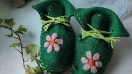 валяные пинетки ′Цветочная полянка′