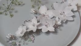 Веточка в прическу.Свадебное украшение для волос.Украшение в прическу