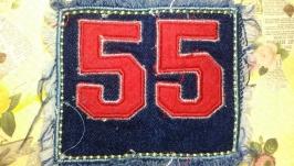 Нашивка на одежду джинсовая №20