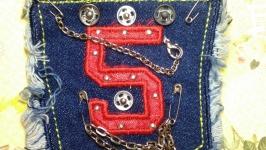 Нашивка на одежду джинсовая №22