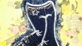 Нашивка на одежду джинсовая №24