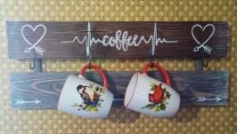Вішалка кухонна ′Люблю каву′
