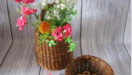 тут изображено Плетеный набор для дачи и кухни ′Карамельное счастье′