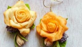 Сережки-розы