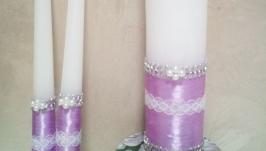 Свічки вінчальні весільні