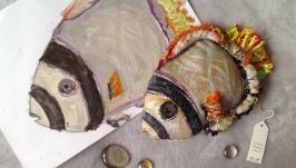 тут изображено интерьерная игрушка по рисунку ребёнка Рыба