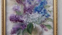 Картина из шерсти ′ Весны букет′