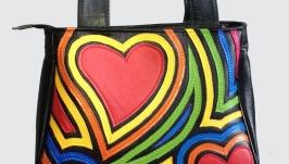 Кожаная сумка ′Rainbow′