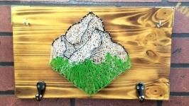 ′Mountains′ ключница в стиле стринг-арт